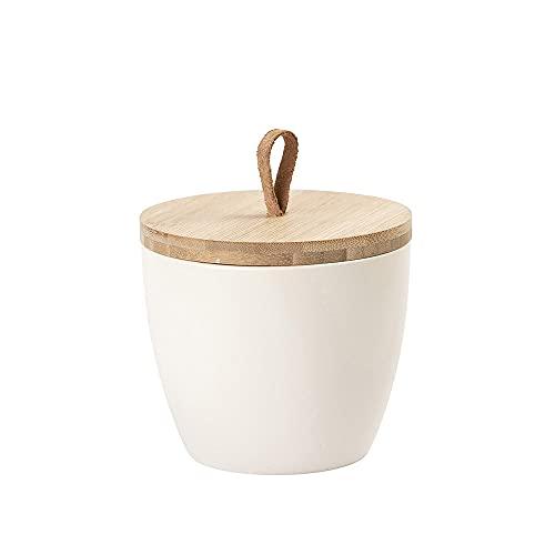 Animal Tree® personalisierbare Keramik Tierurne mit Holz-Deckel Creme - XL - für Tiere bis 100 kg