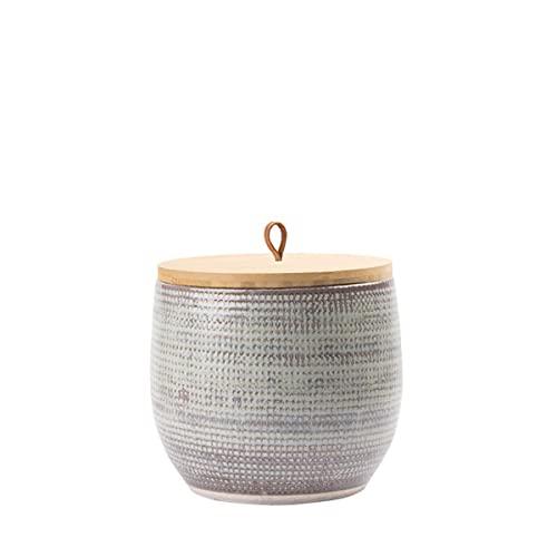 Animal Tree® personalisierbare Keramik Tierurne mit Holz-Deckel Home - M - für Tiere bis 20 kg