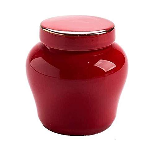 TYHZ Urne Pet Mini-Einäscherung URNs für Asche-Begräbnisurn, Mini-Einäscherung Urnen Urne Hund (Color : Red-1)