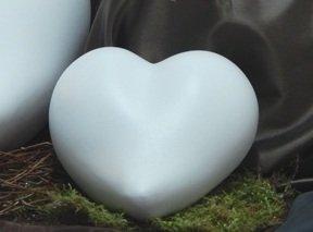 Tierurne - Herz aus Keramik, Weiß, Vol. ca. 0,55 Ltr.*