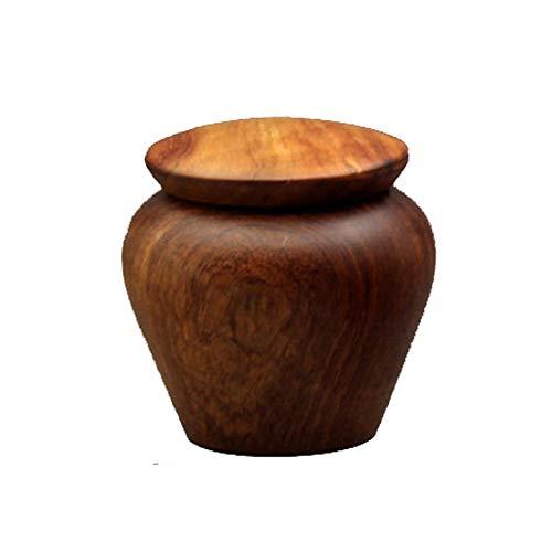 LINGS Mini Holz Feuerbestattung Urne Memorial Funeral Urn, für Mensch und Tier Asche, aus Palisander, handgefertigt