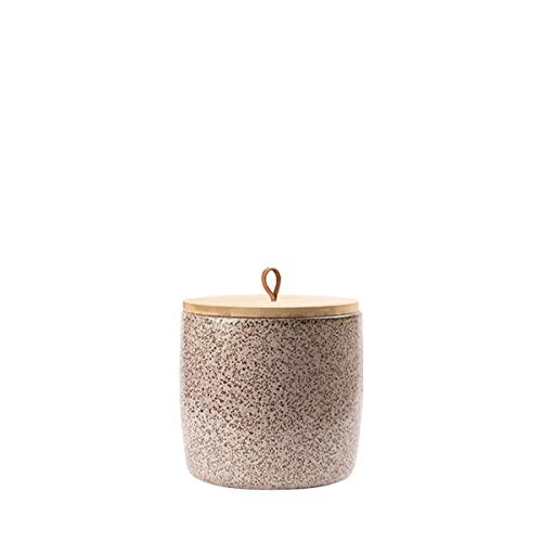 Animal Tree® personalisierbare Keramik Tierurne mit Holz-Deckel OVO - S - für Tiere bis 10 kg