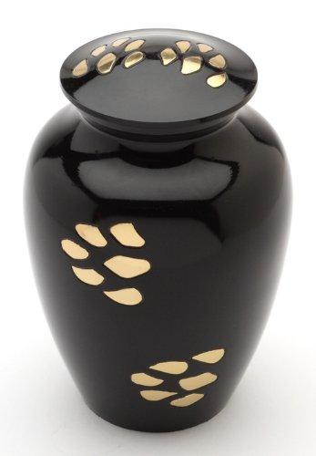 Urns UK Bedford Urne für Haustierasche, 15 cm, Schwarz