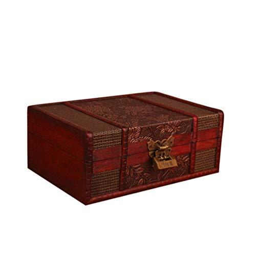 GCZZYMX Erwachsener Große Urnen Schön Handgefertigte Holz Einäscherung Box/Urnen für Menschen Asche Adult Funeral Urn Box, 23 * 16 * 9,5 cm,23 * 16 * 9,5 cm