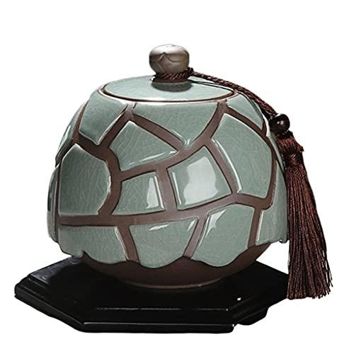 WHL Haustier Urne Katzenhundurn Tragbare Keramikdichtung Pet Urn Pet Asche Halter mit Ständer Asche Urnen (Color : C)