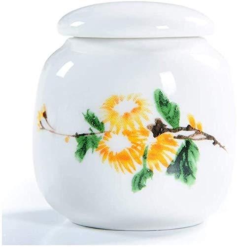 GSAGJyec Funeral Urn Mini Beerdigung Urnen Asche Urne for Erwachsene oder Pet Memorial Beerdigung zu Hause Keramik Starke Siegel (Color : #9)