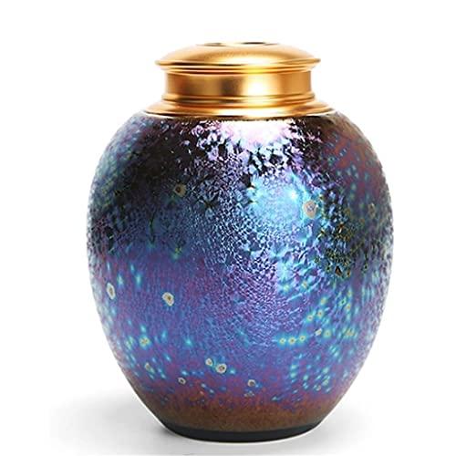WHL Haustier Urne Haustierasche Halter Pet Urn Gradient Glasur Keramik Begräbnisstädte Pet Urne Asche Urnen (Color : Purple)