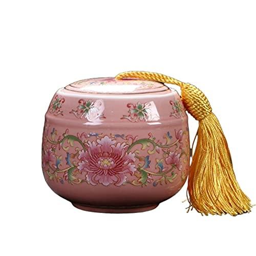 WHL Haustier Urne Keramik Haustier Urne Handgemalte Haustierkassetten Sarg, in der Gebremheit Urnen für alle Haustiere Asche erinnern Asche Urnen (Color : A)