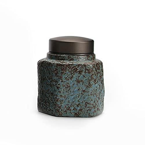LEGU Kleine Keramik-Urne, Haustier-Urne für kleine Hunde/Katzen/Kaninchen/Kleintiere, Memorial-Cremation Ash-Begräbnisurn (Color : Blue)