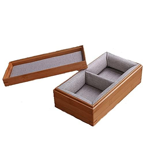 Haustier Urne Haustier Gedenkkarton Weiche Tasche Haustier Urne Bambus hölzerne Square Box for Hundekatze Asche Urnen (Color : There Are Lining, Größe : Small)