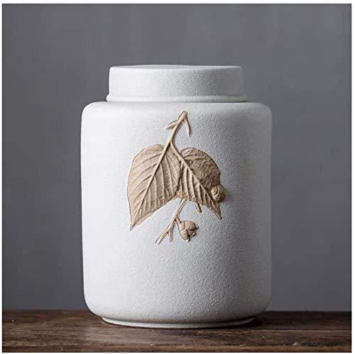 Gedenksteine Särge und Urnen Urnen for Ashes Urne für Asche Feuerbestattungsurnen Erwachsene Kinder Haustierurnen gegen Feuchtigkeit versiegelt Keramikmaterial Exquisites Muster Handgemachtes Schnit