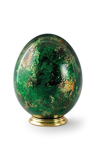 Willibald Völsing KG Tierurne, Glas, Ei, grün, Messingsockel (1,3 Liter)