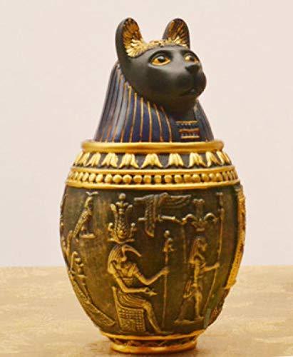 CWWU Urne Für Asche Tierurne Bestattungsbedarf Für Ägyptische Pharaonen Im Stil Einer Großen Und Mittelgroßen Hundeurne, Die Nicht Versiegelt Ist