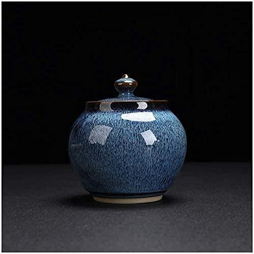 KELITINAus Mini-Urns Für Ashes-Cremation-Aufbewahrungsbox, Erwachsene Kinder Haustier Reiben Urns Memorial Container Jar Pot, Weng Ceramic Materialdichtung Feuchtigkeitsdicht (3.8In * 3.6In),J.