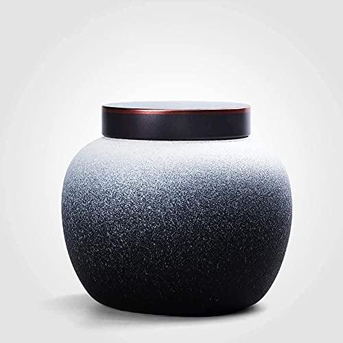 Keramik Rnu, Feuerbestattungsurne, Ureurnur für Asche Begräbnisurn für Haustiere, kleine handgefertigte Keramik-Andenken-Memorials URNs (Farbe: c) (Color : D)