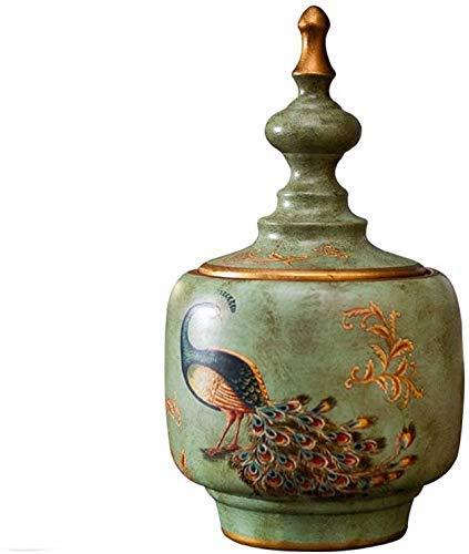 NC Mini Feuerbestattungsurnen Tierbestattungsurnen, Feuerbestattungsurnen, Erwachsene Kinder Asche, Amerikanische Retro Keramik Tierurnen Gedenkstätten Urnen (Größe: 10,5 cm * 46 cm)