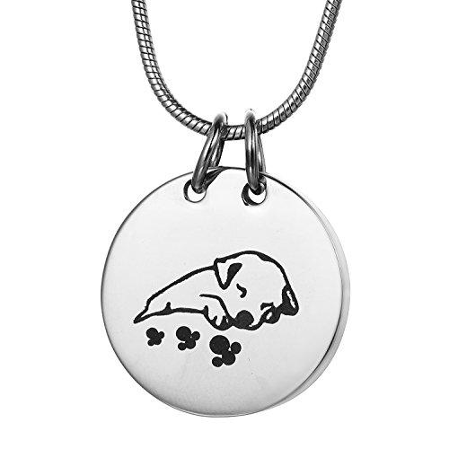 Schlafender Hund Pet Urne Halskette, zcbrisk Verbrennung Jewelry Asche Anhänger Memorial Andenken