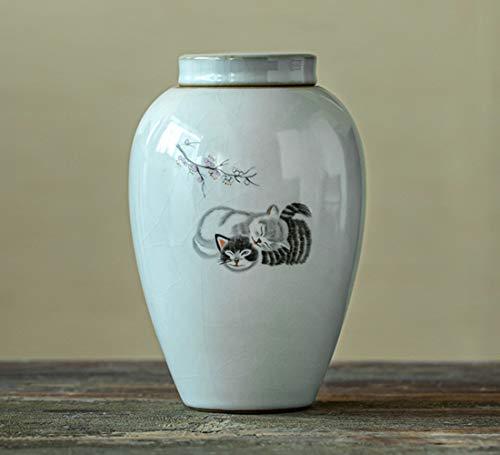 ZYHJAMA Keramikurnen Tierurnen Urnen Für Haustier Asche, Mini-Keramik-Urne, Für Mensch oder Baby/Hunde/Katzen/Vögel Asche