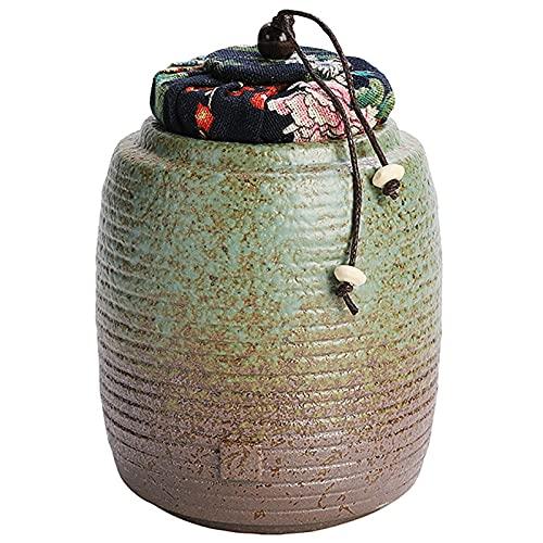 Hengqiyuan Tierurnen Keramik Hunde Katze schäferhund Haustiere Feuerbestattung Asche Bestattung Erinnerungsurne Katzenhunde Asche,9×12.8cm