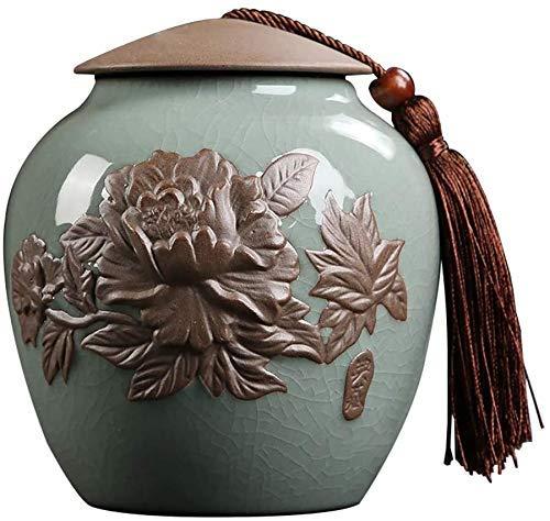 NC Feuerbestattungsurne für Asche Bestattungsurne Feuerbestattungsurnen Erwachsene Kinder Haustierasche Vorratsglas Keramikmaterial gegen Feuchtigkeit versiegelt Gedenkstätten Urnen