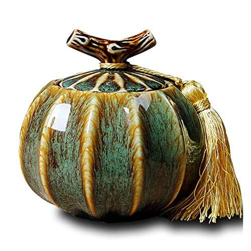 JWGD Haustier-Urnen aus Porzellan, für Beerdigung, Asche, Keramik-Urne für Haustiere, zur Erinnerung an Hunde- und Katzenandenken (Farbe: Frühling, Größe: Mitte)
