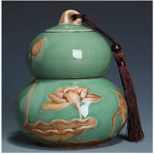 MGPLBYA Urne, Ashes-Andenken, Mini-Begräbnis-Urne, äuren Urn, Urne für Asche (Farbe : Green)