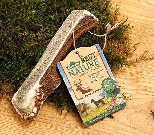 Dehner Best Nature Hundesnack, Kaustange, Geweih vom Rothirsch, halb, L
