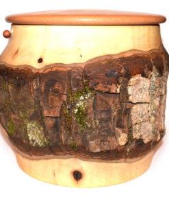 Tierurne mit Rinde aus Nußbaum HE-BS-NU-6